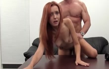 Skinny girl with small tits fucked hard