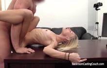 Skinny bitch on a casting